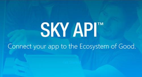 NEWS: Blackbaud Announces General Availability of SKY API
