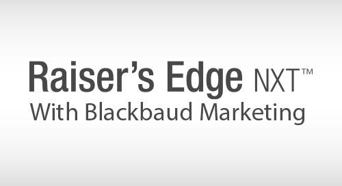 VIDEO: A Demonstration of Raiser's Edge NXT with Blackbaud Marketing