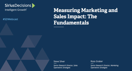 Measuring Marketing and Sales Impact: The Fundamentals Webcast Replay
