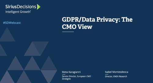 GDPR/Data Privacy: The CMO View Webcast Replay