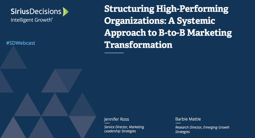 Structuring High-Performing Organizations Webcast Replay
