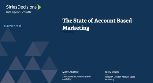 The State of Account Based Marketing Webcast Replay