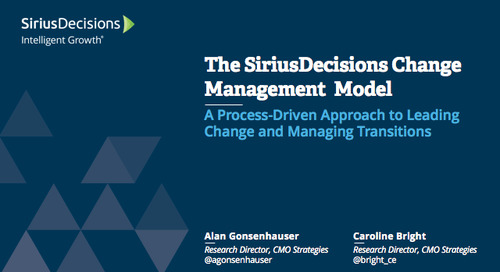 SiriusFoundations: The SiriusDecisions Change Management Model Webcast Replay