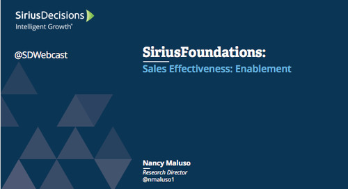 SiriusFoundations: Sales Effectiveness - Enablement Webcast Replay