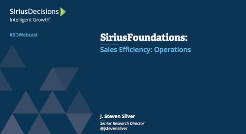 SiriusFoundations: Sales Efficiency - Operations Webcast Replay