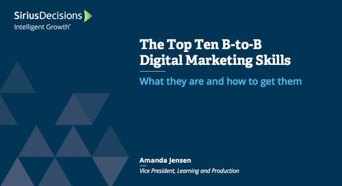 The Top Ten B-to-B Digital Marketing Skills Webcast Replay