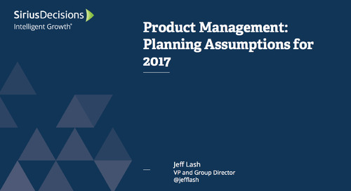 Product Management: Planning Assumptions for 2017 Webcast Replay
