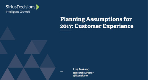 Planning Assumptions for 2017: Customer Experience Webcast Replay