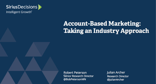 Account-Based Marketing: Taking an Industry Approach Webcast Replay