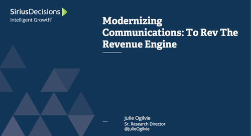Modernizing Communications to Rev the Revenue Engine Webcast Replay