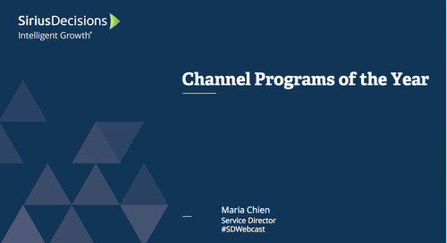2016 Channel Programs of the Year Webcast Replay