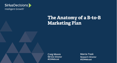 The Anatomy of a B-to-B Marketing Plan Webcast Replay