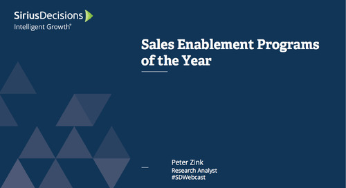 Sales Enablement Programs of the Year Webcast Replay