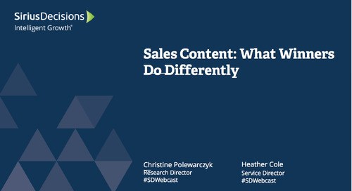 Sales Content: What Winners Do Differently Webcast Replay