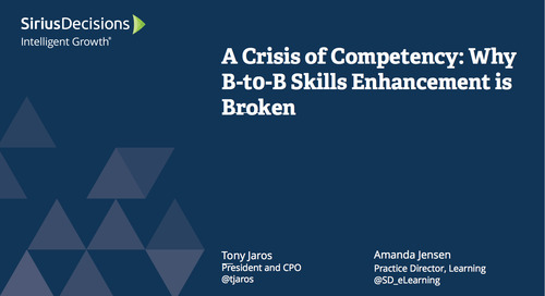 A Crisis of Competency: When B-to-B Skills Enhancement is Broken Webcast Replay