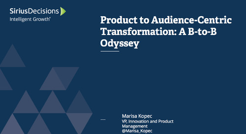 Product to Audience-Centric Transformation: A B-to-B Odyssey Webcast Replay