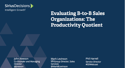Evaluating B-to-B Sales Organizations: The Productivity Quotient Webcast Replay