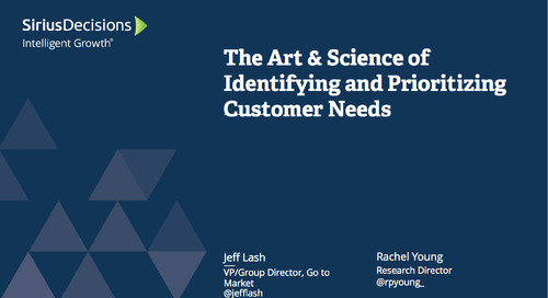 The Art & Science of Identifying and Prioritizing Customer Needs Webcast Replay