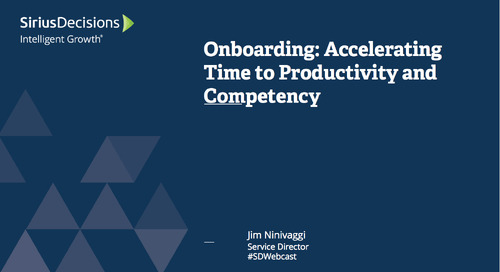 Sales Onboarding: Accelerating Time to Productivity and Competency Webcast Replay