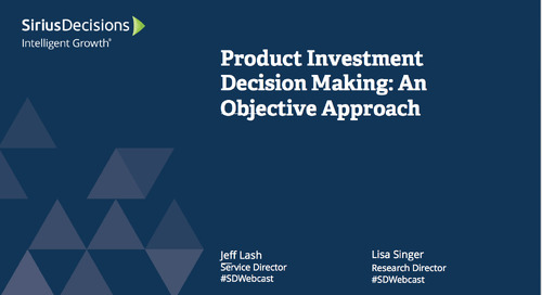 Product Investment Decision Making Webcast Replay