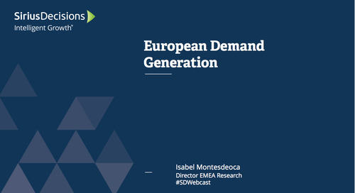 Regional Perspective: The Pulse of European Demand Generation Webcast Replay