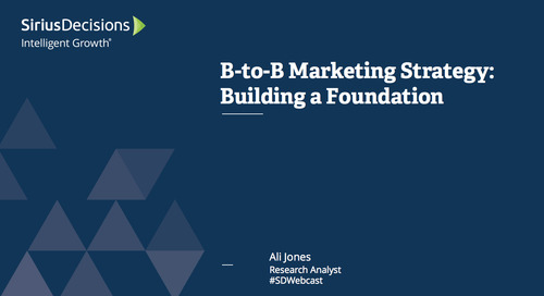 B-to-B Marketing Strategy: Building the Foundation Webcast Replay