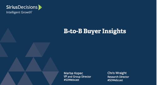 B-to-B Buyer Insights Webcast Replay