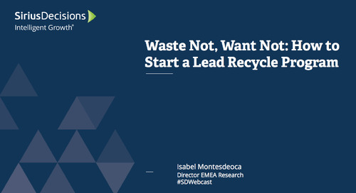 Waste Not, Want Not: How to Start a Lead Recycling Program Webcast Replay
