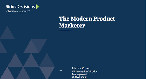 The Modern Product Marketer Webcast Replay