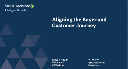Aligning the Buyer and Customer Journey Webcast Replay