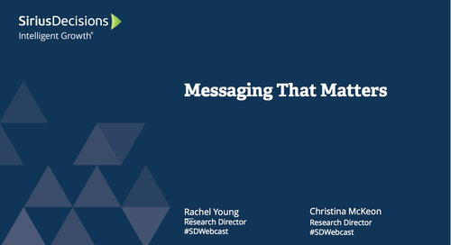 Messaging that Matters Webcast Replay
