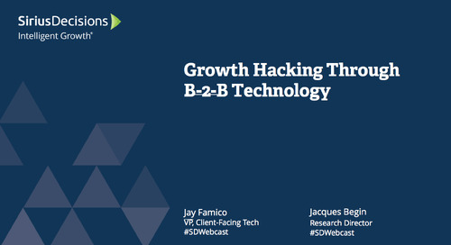Growth Hacking Through B-to-B Technology Webcast Replay