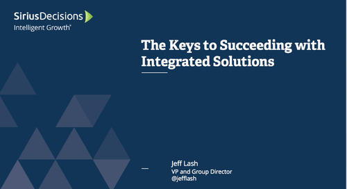 The Keys to Succeeding with Integrated Solutions Webcast Replay