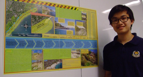 GIS in the classroom: Carson Lau a student with the GIS-edge
