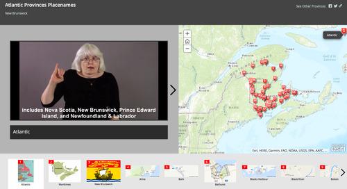 L'Université Sainte-Marie publie une carte toponymique en langue des signes