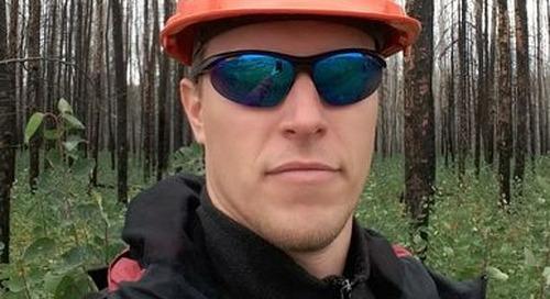 Le boursier FrançoisRobinne étudie l'incidence des feux de forêt sur l'eau