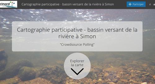 Une carte récit illustre le succès d'un projet visant la qualité de l'eau de la rivière à Simon