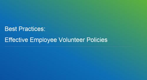 Webinar: Best Practices - Effective Employee Volunteer Policies