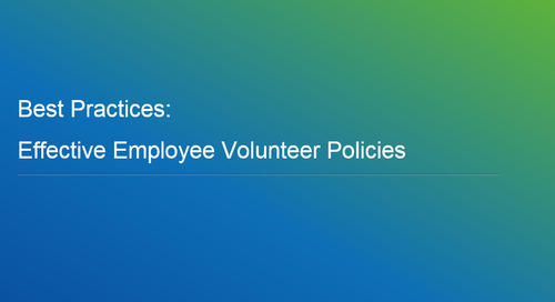 Webinar: Best Practices - Effective Employee Volunteer Policies