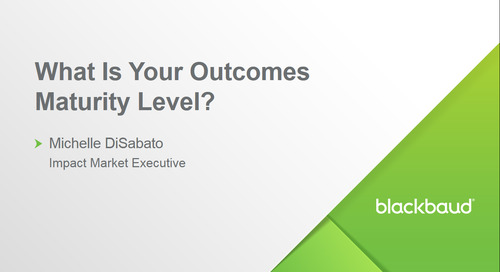 Webinar: What Is Your Outcomes Maturity Level?