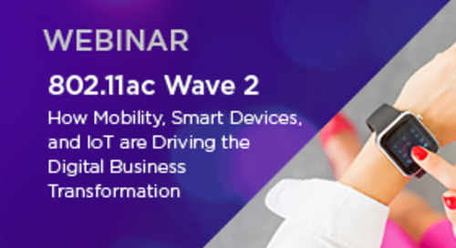 Stay in the Driver's Seat with 802.11ac Wave 2