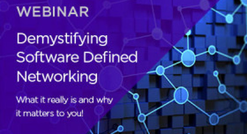 Demystifying Software Defined Networking