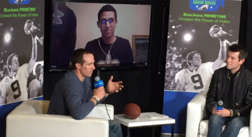 "Kicking off BlueJeans Primetime in 2016: ""Chalk Talk"" with Drew Brees"