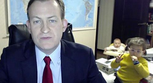 Lessons from 'BBC Dad' in Establishing a Productive Home Office Environment