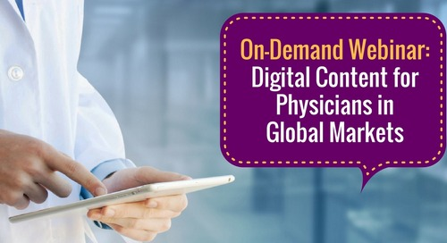 Webinar: Digital Content for Physicians in Global Markets