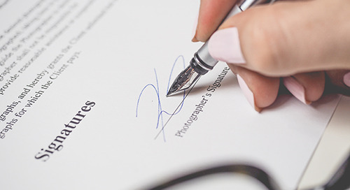 How to complete your agreement