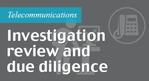 Investigation review and due diligence