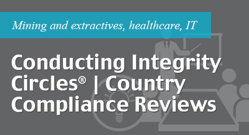 Conducting Integrity Circles ® country compliance reviews