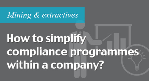 Simplify a compliance programme within a company