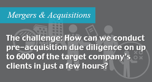 Pre-acquisition due diligence and screening